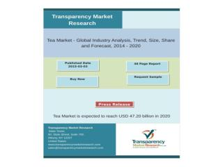 Tea Market is expected to reach USD 47.20 billion in 2020