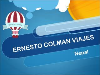 Ernesto Colman viajes:Nepal