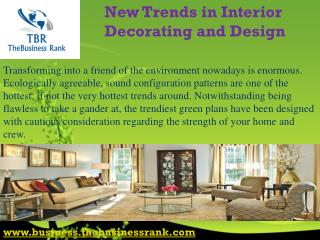 New Trends in Interior Decorating and Design