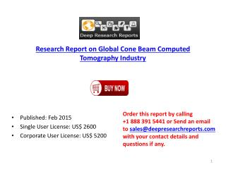Global Cone Beam Computed Tomography Market Analysis to 2020