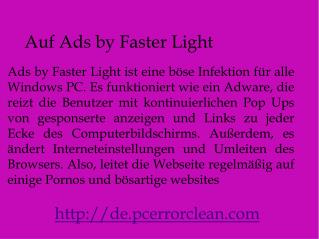 Entfernen Ads by Faster Light