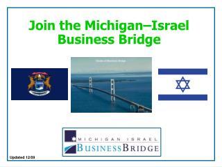 Join the Michigan Israel Business Bridge