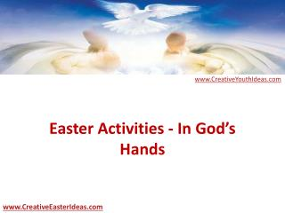 Easter Activities - In God's Hands