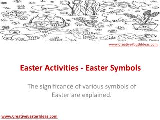 Easter Activities - Easter Symbols