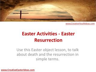 Easter Activities - Easter Resurrection