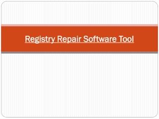 Registry Repair Software Tool