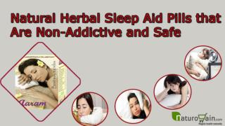 Natural Herbal Sleep Aid Pills that Are Non-Addictive and Sa