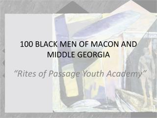 100 BLACK MEN OF MACON AND MIDDLE GEORGIA