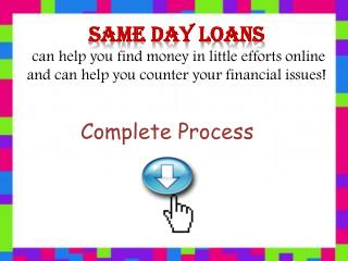 Same Day Loans Can Help You Meet Your Necessities in Crisis