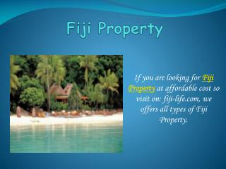 Find Fiji property, real estate, villa for sale with The Fij