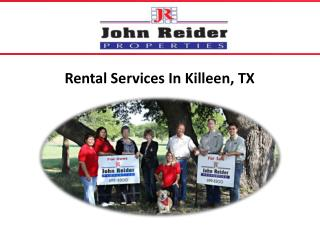 Rental Services In Killeen, TX