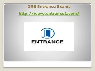 Entrance Exams GRE Exams India
