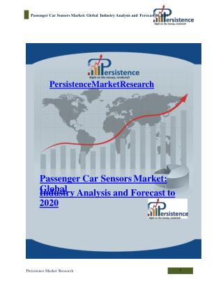Passenger Car Sensors Market: Global Industry Analysis and F