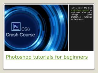 Photoshop tutorials for beginners