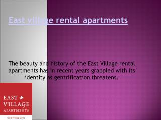 East village rental apartments