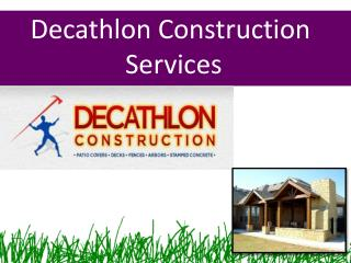 Decathlon Construction Services