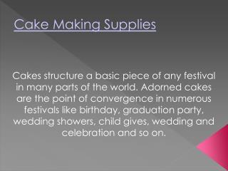 Cake Making Supplies