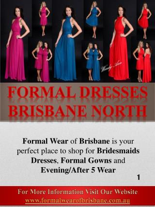 Bridesmaid Dresses Brisbane North