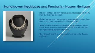 Buy Handwoven Necklaces