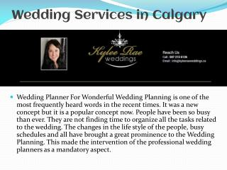 Wedding Services in Calgary