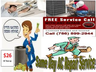 Central Air Conditioning Repair Miami