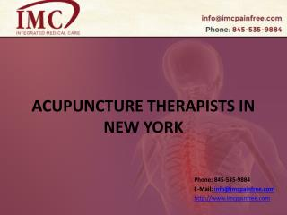 Acupuncture Therapists in New York