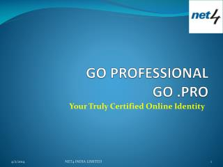 GO PROFESSIONAL GO .PRO