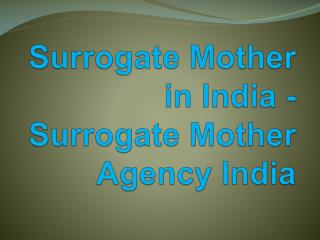 Surrogate Mother Agency India - Surrogate Mother in India