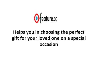 Feature.co – helps you in choosing the perfect gift