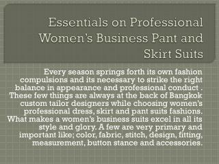 Essentials on Professional Women's Business Pant and Skirt S