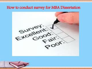 how to conduct survey for mba dissertation