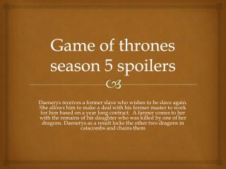 game of thrones season 5 spoilers-www.gameofthronesseason5online.com