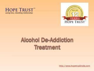 Alcohol De-Addiction Treatment