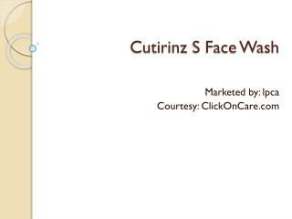 Cutirinz S Face Wash Online in India