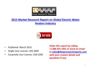 Global Electric Water Heaters Industry Project SWOT Analysis