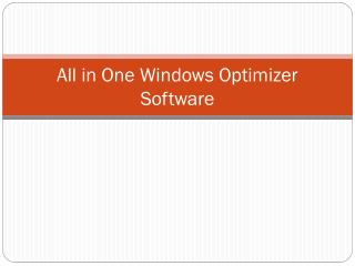 All in One Windows Optimizer Software