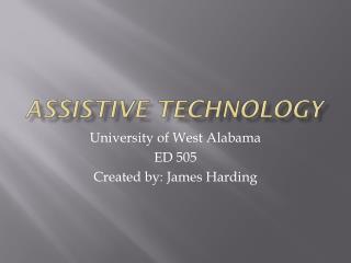 ED 505 Assistive Tech
