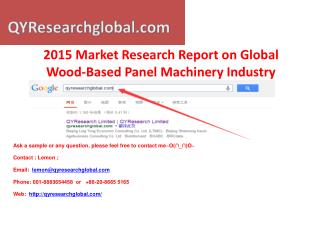 QYResearch-2015 Market Research Report on Global Wood-Based