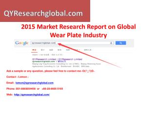 QYResearch-2015 Market Research Report on Global Wear Plate