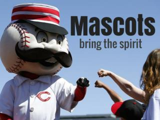Mascots bring the spirit