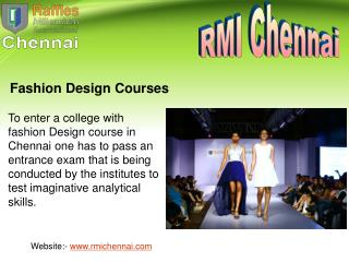 Best fashion designing college(Institutes) in Chennai
