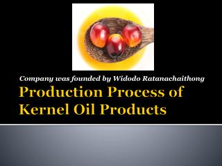 Production Process of Kernel Oil Products
