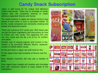 Japanese Candy Subscription Service