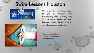 Private Swim School Lessons Houston