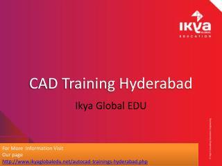 Autocad Training - Ikya Global Education