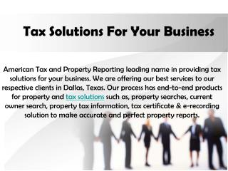 Tax Solutions For Your Business