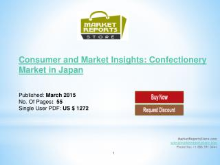 Confectionery Market in Japan: Consumer and Market Insights
