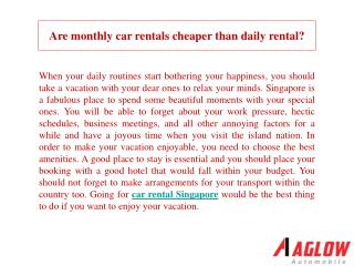 Are monthly car rentals cheaper than daily rental?