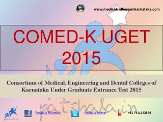 COMEDK UGET 2015 MBBS ENTRANCE EXAM NOTIFICATION