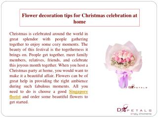 Flower decoration tips for Christmas celebration at home